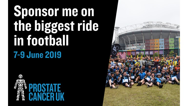 Elite's Lee Burton to Cycle to Amsterdam for Prostate Cancer UK
